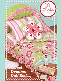 Ellie Mae 105 Sweet Dreams Doll bed - poppenbed met beddengoed en kussentjes