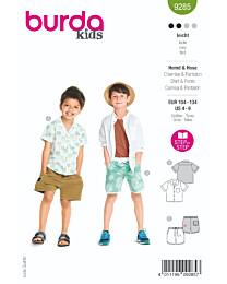 Burda - 9285 blouse en short
