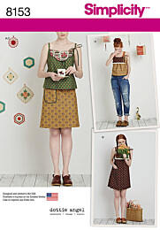 Simplicity - 8153 jurk, top, rok