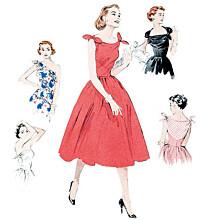 Butterick - B5708 Retro jurk in meerdere variaties