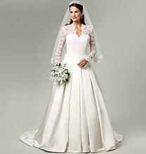 Bruidsjurk wedding dress Kate Middleton Royal Wedding 2011 naaipatroon