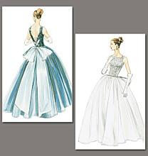 Vogue 8729 bruidsjurk, galajurk 1956