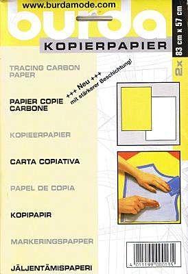 Burda - kopieerpapier wit/geel