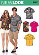 New Look 6197 - Unisex zomershirt in variaties.