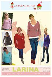 Cinderella Zwergenmode Larina tricot wikkelshirt voor dames