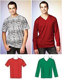 KwikSew 3878 T-shirt en longsleeve shirt voor heren