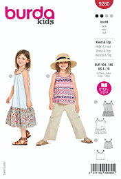 Burda - 9280 jurk en top