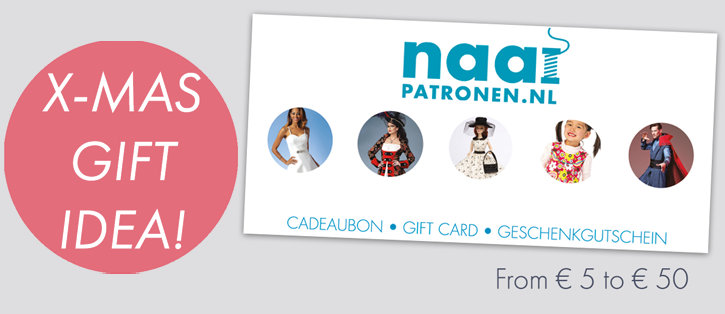 Christmas gift idea: Sewingpatterns.shop gift cards!