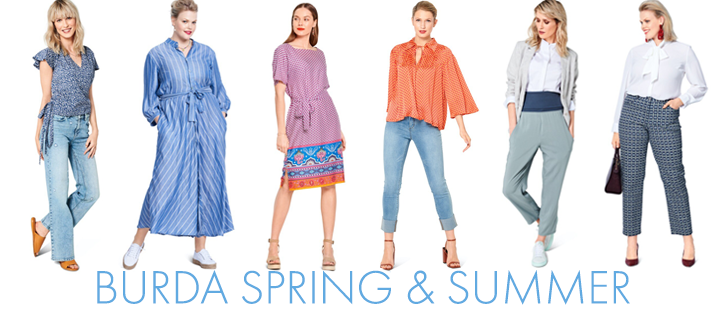 Burda Spring and Summer Collection sewing patterns