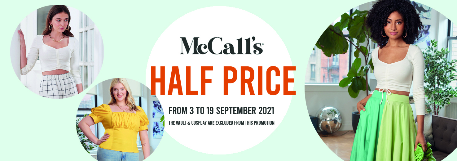 McCall's patterns Sale 50% off