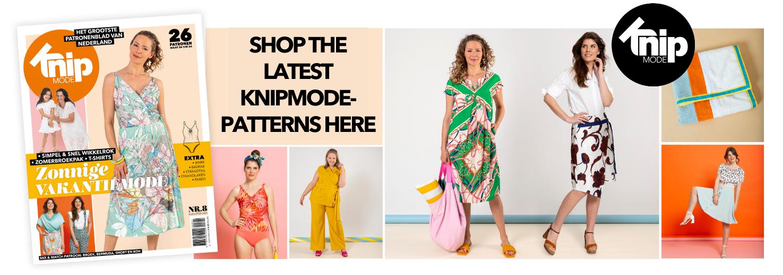 Knipmode August 2021 sewing patterns