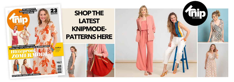 New Knipmode July 2021 sewing patterns